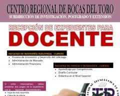 Para los docentes de la Provincia de Bocas del Toro.