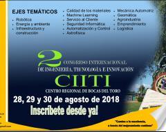 2do. Congreso Internacional de Ingeniería, Tecnología e Innovación.